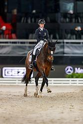 LINDNER Ann-Kathrin (GER), Flatley<br /> Stuttgart - German Masters 2019<br /> PREIS DER LISELOTT SCHINDLING STIFTUNG ZUR FÖRDERUNG DES DRESSURREITSPORTS<br /> Piaff Förderpreis Finale<br /> Nat. Dressurprüfung Kl. S***<br /> Grand Prix<br /> 15. November 2019<br /> © www.sportfotos-lafrentz.de/Stefan Lafrentz