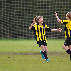 TELFORD COPYRIGHT MIKE SHERIDAN Action from AFC Telford United academy ladies/girls u11 at Idsall Sports Centre on Saturday, October 12, 2019.<br /> <br /> Picture credit: Mike Sheridan/Ultrapress<br /> <br /> MS201920-026