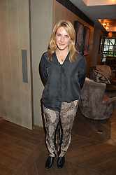 LONDON, ENGLAND 2 DECEMBER 2016: <br /> Amanda Harrington at a breakfast attended by a host of influencers, press and VIPs to celebrate the official launch of EVARAE the new British luxury resort wear brand, held at The Hari Hotel, 20 Chesham Place, London.  England. 2 December 2016.