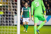 Lewis Stevenson (#16) of Hibernian FC during the Ladbrokes Scottish Premiership match between Hibernian and Rangers at Easter Road, Edinburgh, Scotland on 19 December 2018.