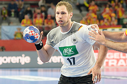Steffen Weinhold of Germany during handball match between National teams of Germany and Spain on Day 7 in Main Round of Men's EHF EURO 2018, on January 24, 2018 in Arena Varazdin, Varazdin, Croatia. Photo by Mario Horvat / Sportida