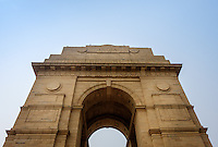 NEW DELHI, INDIA - CIRCA OCTOBER 2016: The India Gate, a popular tourist attraction in New Delhi.
