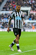 Kenedy (#15) of Newcastle United during the Premier League match between Newcastle United and Huddersfield Town at St. James's Park, Newcastle, England on 31 March 2018. Picture by Craig Doyle.