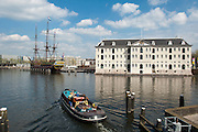 Het Scheepvaartsmuseum, Schifffahrtsmuseum, VOC schip, historisches Segelschiff, Amsterdam, Holland, Niederlande