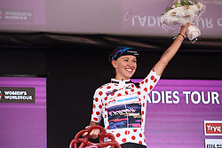 Kasia Niewiadoma (POL) wins the climber's jersey at Ladies Tour of Norway 2018 Stage 3. A 154 km road race from Svinesund to Halden, Norway on August 19, 2018. Photo by Sean Robinson/velofocus.com