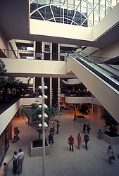 Stock photo of the interior of the Houston Galleria.