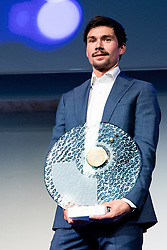 Primoz Roglic at the Slovenia's Cyclist of the year award ceremony by Slovenian Cycling Federation KZS, on November 26, 2019 in Ljubljana Castle, Ljubljana, Slovenia. Photo by Matic Klansek Velej / Sportida