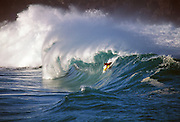 Surfer, Waimea Bay, North Shore, Oahu, Hawaii