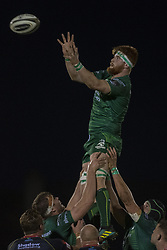 November 3, 2018 - Galway, Ireland - Sean O'Brien of Connacht during the Guinness PRO14 match between Connacht Rugby and Dragons at the Sportsground in Galway, Ireland on November 3, 2018  (Credit Image: © Andrew Surma/NurPhoto via ZUMA Press)