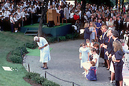 A 28 MG IMAGE OF:..A household maid at the grave of Bobby Kennedy at Arlington Cenetary on the anniversary of his death..Photo by Dennis Brack  BB1