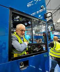 Labour leader Jeremy Corbyn and Scottish Labour leader Richard Leonard at the Alexander Denis factory in Falkirk.<br /> <br /> &copy; Dave Johnston / EEm