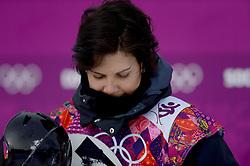 09-02-2014 SNOWBOARDEN: OLYMPIC GAMES: SOTSJI<br /> Op het Rosa Khutor Extreme Park werden de halve finale Slopestyle gereden / Cheryl Maas weet zich niet te kwalificeren voor de finale<br /> ©2014-FotoHoogendoorn.nl<br />  / Sportida