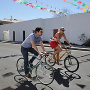 Cruising through Barrio Viejo during Cyclovia Tucson 2011. Bike-tography by Martha Retallick.