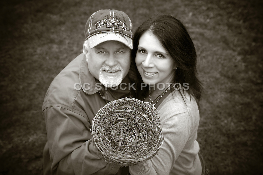 Husband and Wife Empty Nest Stock Photo