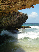 Beach cove in Arikok National Park, Aruba