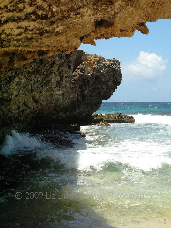 Beach cove in Arikok National Park, Aruba