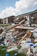 Storm debris in front of apartment complex in O'neal Place in Baton Rouge, on Sept. 18.