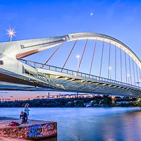 Barqueta Bridge over the Guadalquivir River, Seville, Spain