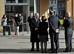 © Licensed to London News Pictures. 4 February 2013. Oxford. HRH Prince Charles visited the Said Business School to officially open the new building. Photo credit : MarkHemsworth/LNP