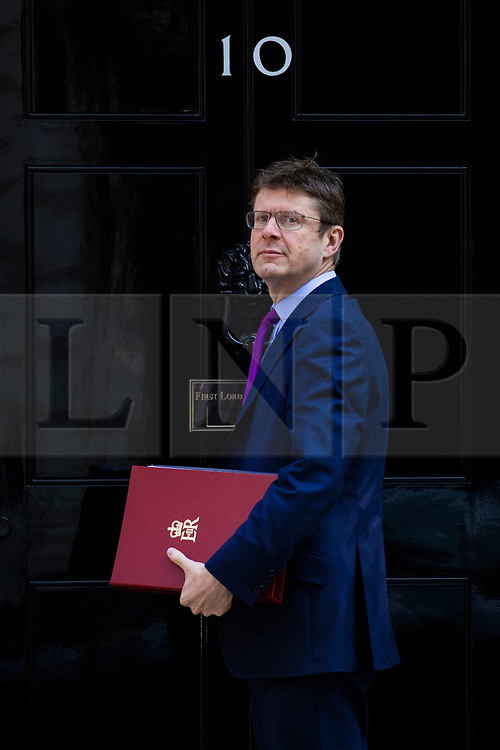 © Licensed to London News Pictures. 15/05/2018. London, UK. Secretary of State for Business, Energy and Industrial Strategy Greg Clark arrives on Downing Street for the Cabinet meeting. Photo credit: Rob Pinney/LNP