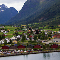 Europe, Norway, Olden. Olden Cruise Port.