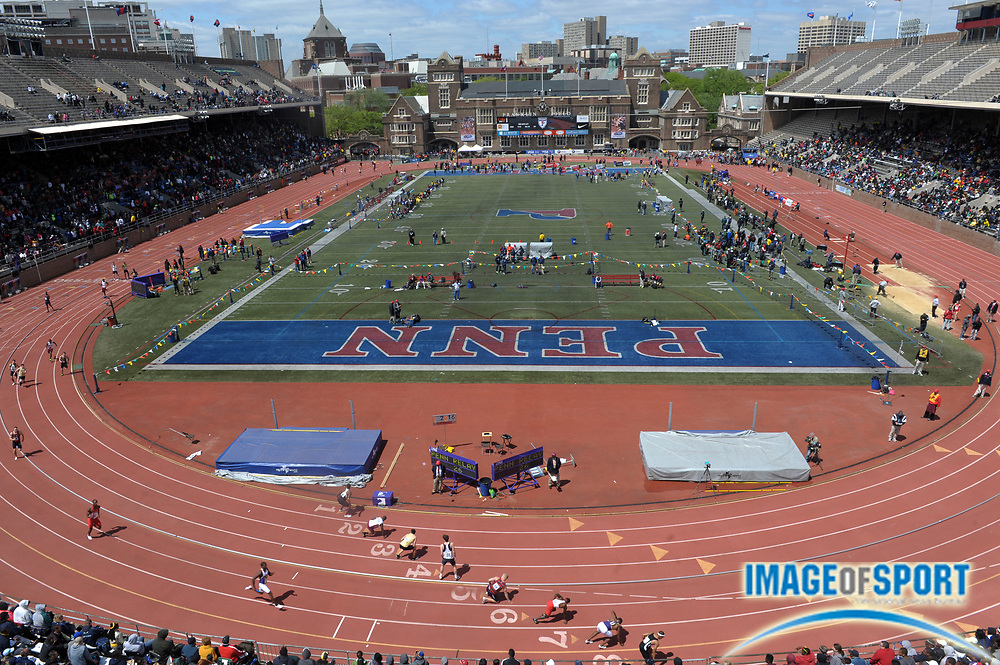 Apr 27, 2012; Philadelphia, PA, USA; General view of the 118th Penn Relays at Franklin Field.