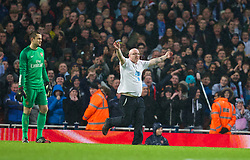 LONDON, ENGLAND - Friday, January 24, 2014: A Coventry City supporter runs onto the pitch as he protests against the club's removal from their home stadium during the FA Cup 4th Round match against Arsenal at the Emirates Stadium. (Pic by David Rawcliffe/Propaganda)