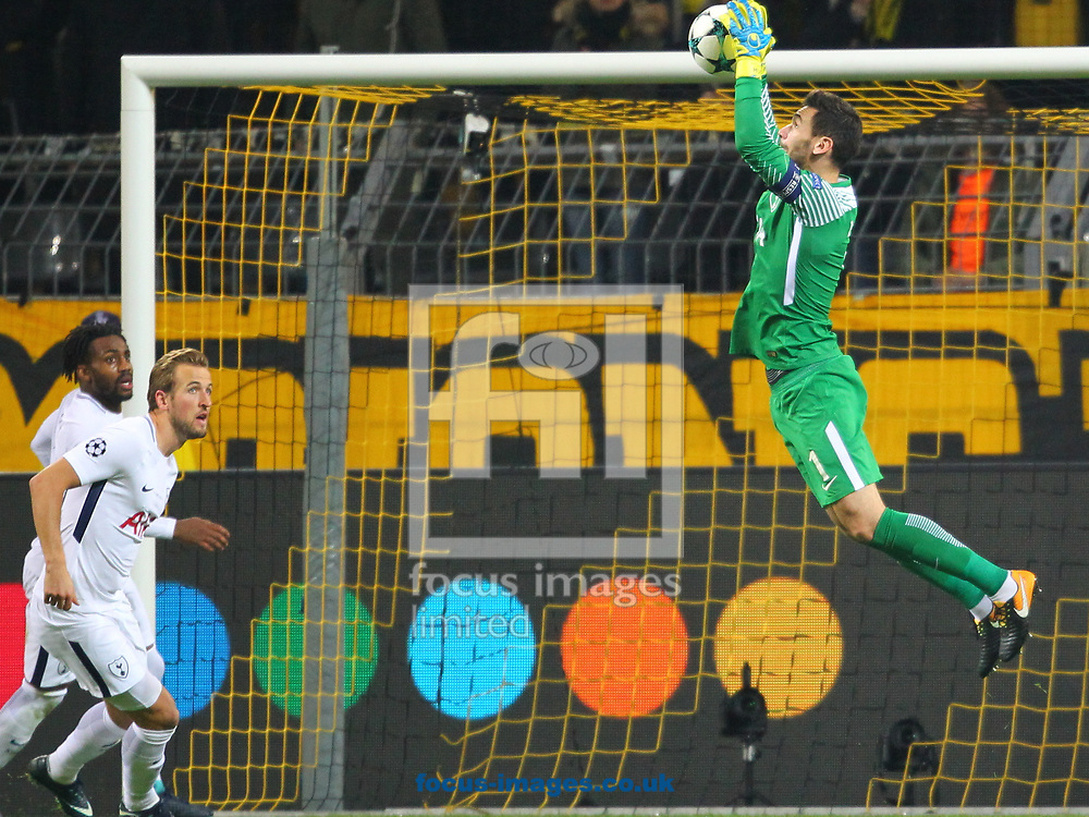 Hugo Lloris of Tottenham Hotspur during the UEFA Champions League match at Signal Iduna Park, Dortmund<br /> Picture by Yannis Halas/Focus Images Ltd +353 8725 82019<br /> 21/11/2017