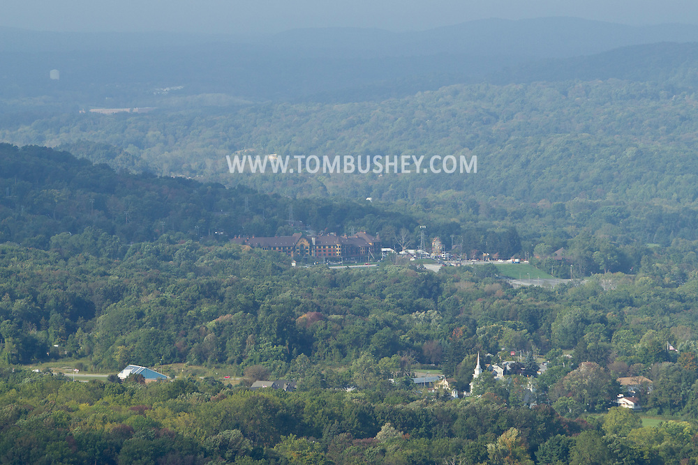 Vernon, New Jersey - A view of Vernon and Mountain Creek from Pinwheel Vista on Wawayanda Mountain on Sept. 22, 2012.