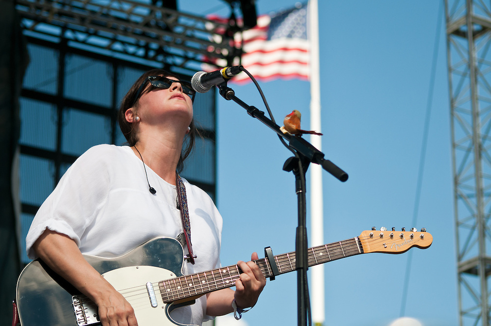 Tracyanne Campbell of Camera Obscura performs at Bunbury Music Festival at Yeatman's Cove in Cincinnati, Ohio on July 14, 2013.