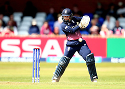 Tammy Beaumont of England Women plays a cut shot - Mandatory by-line: Robbie Stephenson/JMP - 12/07/2017 - CRICKET - The County Ground Derby - Derby, United Kingdom - England v New Zealand - ICC Women's World Cup match 21