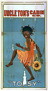 Uncle Tom's Cabin Co. [ca. 1894] American theatre poster showing an African American girl