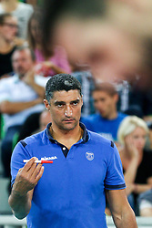 Andrea Giani, head coach of Slovenia, during friendly volleyball match between national teams of Slovenia and Brasil in Arena Stozice on 9. September 2015 in , Ljubljana, Slovenia. Photo by Matic Klansek Velej / Sportida