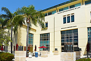 Back Entrance to Kennedy Hall and Fowler School of Law on Campus at Chapman University