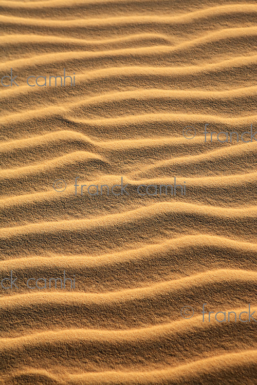ripples of sand dune of cumbuco in ceara state brazil