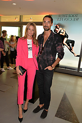 Hugo Taylor and Millie Mackintosh at the Emporio Armani YOU fragrance launch at Sea Containers, 18 Upper Ground, London England. 20 July 2017.<br /> Photo by Dominic O'Neill/SilverHub 0203 174 1069 sales@silverhubmedia.com