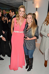 Left to right, CHANELLE McCOY and GEORGIE THOMPSON (Lady Ainslie) at the London premier of Being AP held at Altitude 360, Millbank Tower, 30 Millbank, London on 23rd November 2015.