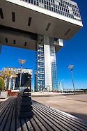 Europa, Deutschland, Koeln, Kranhaus Sued im Rheinauhafen, Architekt Hadi Teherani.<br /> <br /> Europe, Germany, Cologne, Crane House South at the Rheinau harbour, architect Hadi Teherani.
