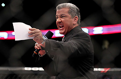 East Rutherford, NJ - May 05, 2012: Bruce Buffer during UFC on FOX 3 at the Izod Center in East Rutherford, New Jersey.
