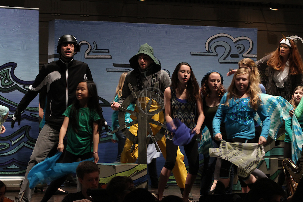 "Seattle Opera production of ""Heron and the Salmon Girl"",  featuring the Seattle Youth Symphony, Seattle Opera soloists and Youth Chorus."