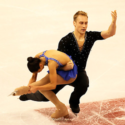 (Ottawa, ON---1 November 2008)  Amand Evora and Mark Ladwig of the USA compete in the pairs free skating at the 2008 HomeSense Skate Canada International figure skating competition.  Photograph copyright Sean Burges/Mundo Sport Images (www.msievents.com).