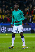 Tottenham Hotspur defender Davinson Sánchez (6) warms up ahead of the Champions League round of 16, leg 2 of 2 match between Borussia Dortmund and Tottenham Hotspur at Signal Iduna Park, Dortmund, Germany on 5 March 2019.