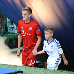 11.07.2015, Allianz Arena, M&uuml;nchen, GER, 1. FBL, FC Bayern Muenchen, Teampr&auml;sentation, im Bild Sinan Kurt (FC Bayern Muenchen) bei der Allianz FC Bayern Team Presentation in der Allianz-Arena Muenchen, 11.07.2015, Foto: Stuetzle/ Eibner-Pressefoto // during the Teampresentation at the Allianz Arena in M&uuml;nchen, Germany on 2015/07/11. EXPA Pictures &copy; 2015, PhotoCredit: EXPA/ Eibner-Pressefoto/ Stuetzle<br /> <br /> *****ATTENTION - OUT of GER*****