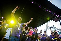 Marcos Tavares of NK Maribor celebrate after NK Maribor became Slovenian National Champion 2017 after football  match between NK Maribor and NK Krskor in Round #36 of Prva liga Telekom Slovenije 2016/17, on May 27th, 2017 in Ljudski Vrt, Maribor, Slovenia. Photo by Grega Valancic / Sportida