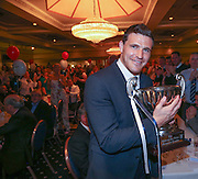 Kyle Letheren with the Andrew De Vries Trophy after being voted Dundee's player of the year <br /> <br /> <br />  - &copy; David Young - www.davidyoungphoto.co.uk - email: davidyoungphoto@gmail.com