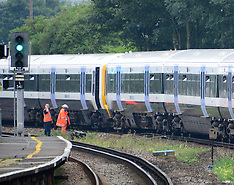 AUG 27 2013 Fire on train at Hither Green , London, UK