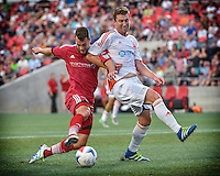 July 27, 2015: Ottawa Fury FC forward Thomas Stewart (#16) during the NASL match between the Ottawa Fury FC and Carolina Railhawks at TD Place Stadium in Ottawa, ON. Canada on July 27, 2016. The Fury recording a 2-0 win.<br /> <br /> PHOTO: Steve Kingsman/Freestyle Photography