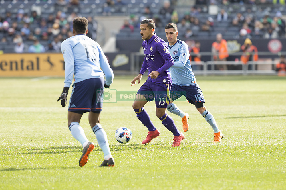 March 17, 2018 - New York, New York, United States - Mohamed El-Munir (13) of Orlando City SC controls ball during regular MLS game against NYC FC at Yankee stadium NYC FC won 2 - 0  (Credit Image: © Lev Radin/Pacific Press via ZUMA Wire)