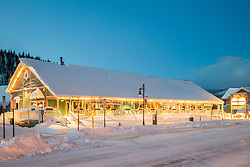 """""""Downtown Truckee 57"""" - Photograph of historic Downtown Truckee, California shot right after a snow storm."""