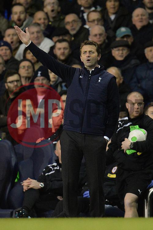 Tottenham's manager Tim Sherwood  - Photo mandatory by-line: Mitchell Gunn/JMP - Tel: Mobile: 07966 386802 02/03/2014 - SPORT - FOOTBALL - White Hart Lane - London - Tottenham Hotspur v Cardiff City - Premier League